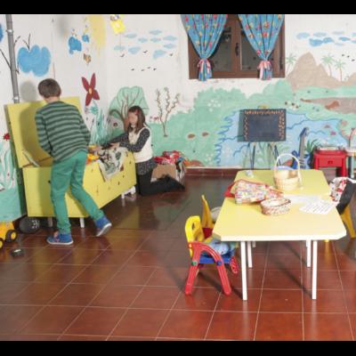 Niños jugando en Casa Rural Beatriz